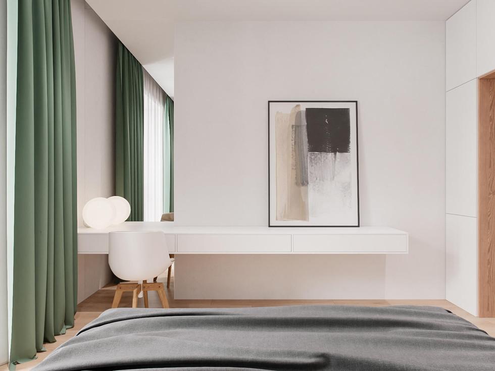 Вид у спальні з ліжка на робочу стільницю.jpg