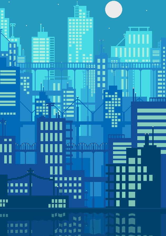 pixel art - cityscape