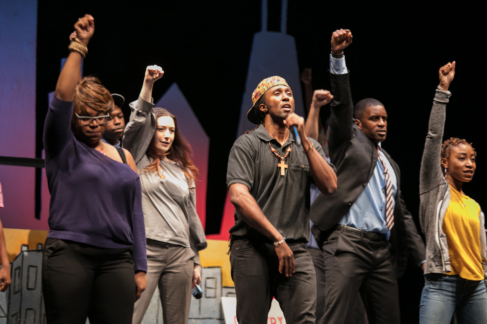 Jeremy Noah and the Cast of #Hashtag Who's Next The Musical (Photo credit:Joel Maisonet)