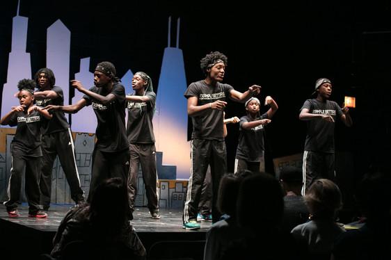 Collaboraction's Teen Peacemaker Ensemble inConflict (Photo credit:Joel Maisonet)