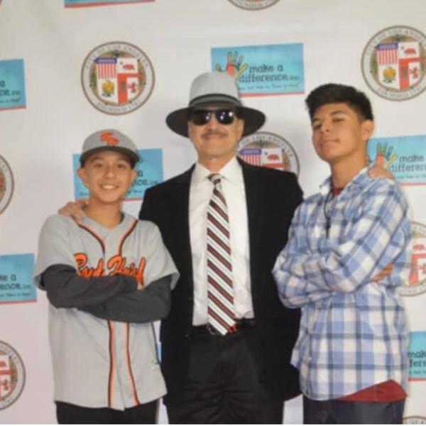 Boyle Heights kids with Actor Danny De La Paz