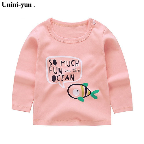 Long Sleeve Tops Animal Appliques Kids T-Shirts for Girl Sweatshirt
