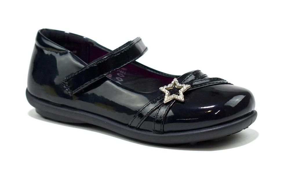 Starla Girl's Grip Sole School Shoes Black