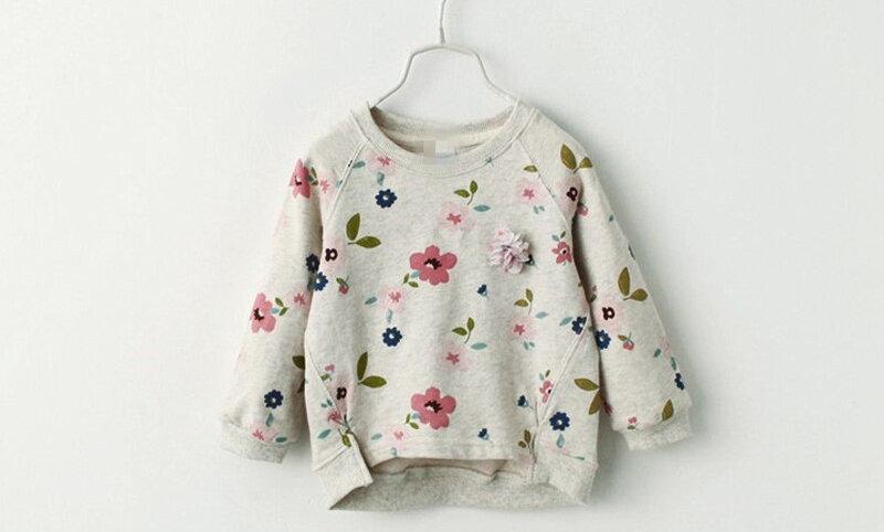 Children Sweatshirts for Baby Girls Long Sleeves Sweater Girls Hoodies