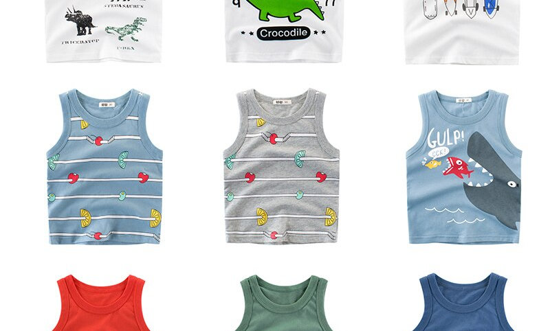 Vest Tops Clothes Cotton Tees Cartoon New 2020 Clothing