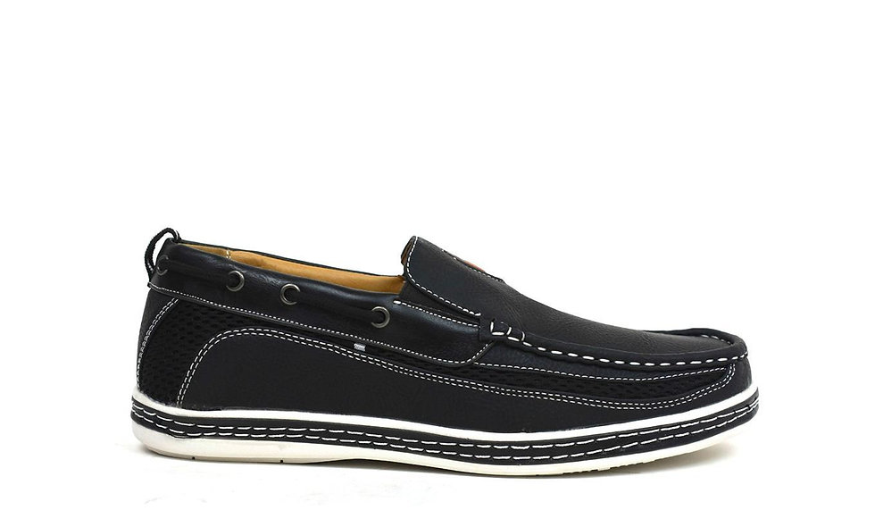 Carson Boat Shoes Black