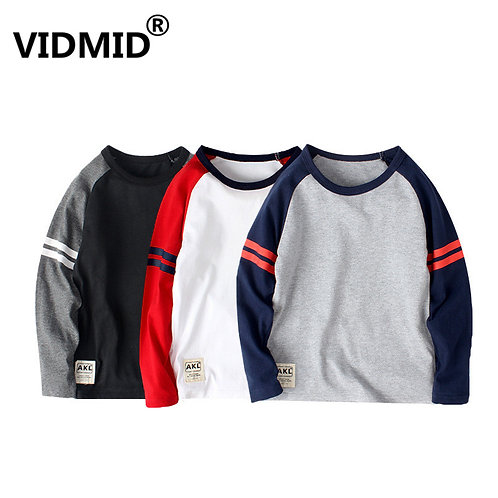 New Arrival Long Sleeve Children Clothes T-Shirts for 6-14y Boys 4102 19