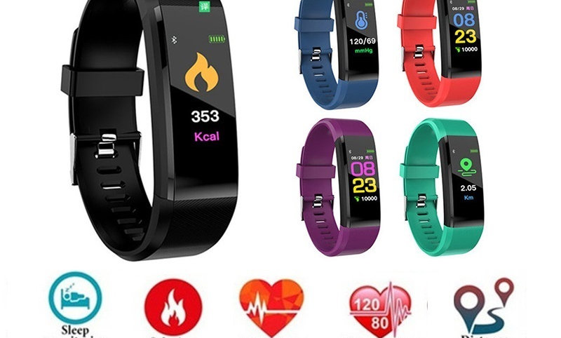 Watch Fitness Running Walking Tracker Heart Rate Pedometer Smart Band