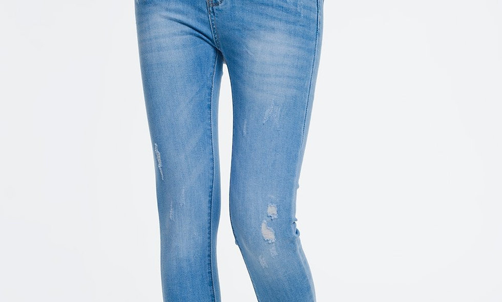 Super Skinny Jeans in Light Denim