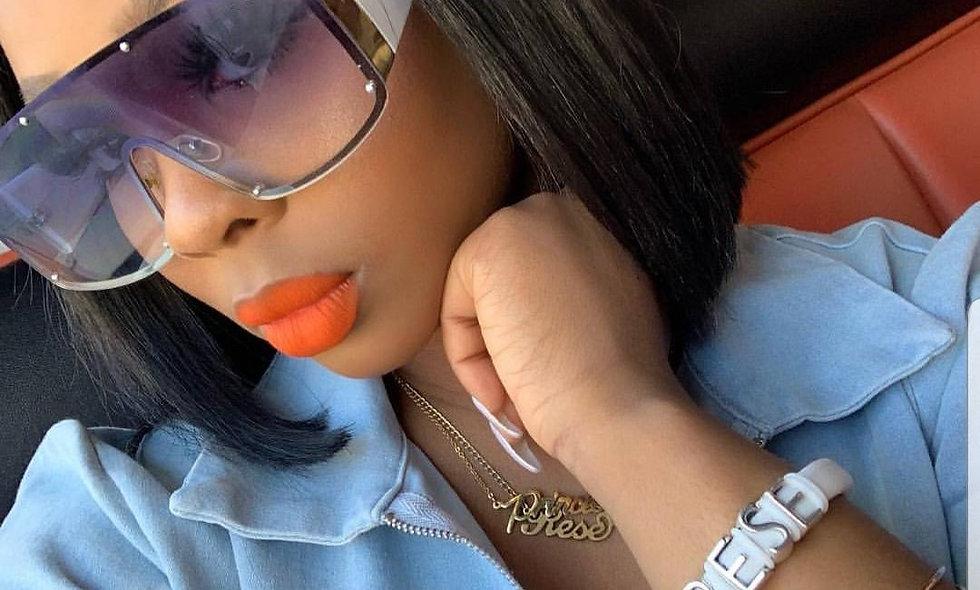 Sun Glasses Gradient Square Vintage Sunglasses Brand Designer UV400