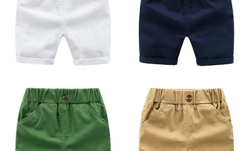 Shorts Summer Cotton Children Shorts Solid Color Baby Boys Clothes Size 90-130