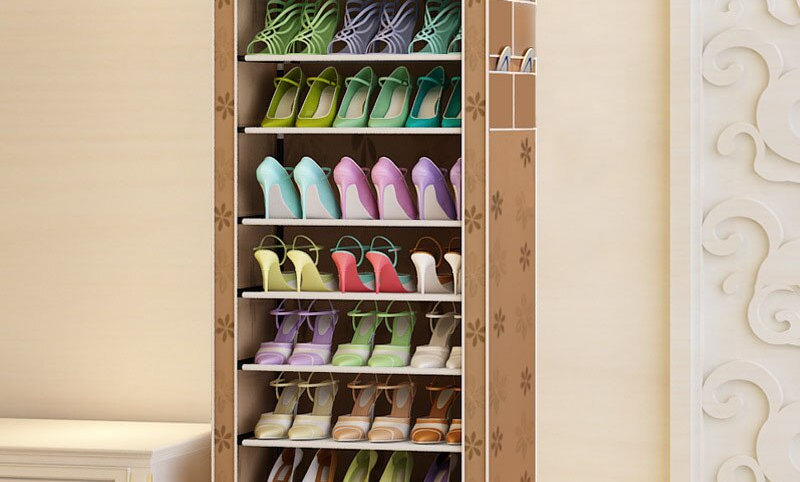 Layers 9 Grids Shoe Organizer Case Shelf Shoes Storage Cabinet