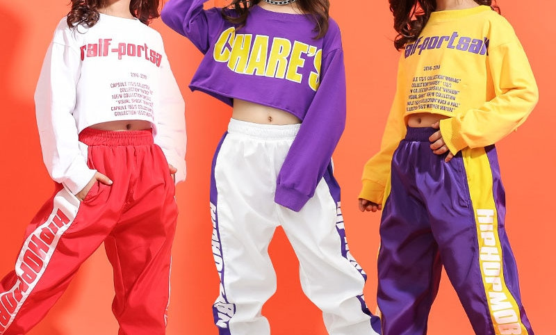 Summer Sweatshirt Pants Set Ballroom Dancewear Stage Outfit