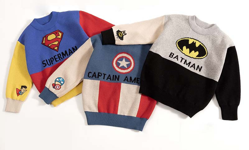 Pullover Sweater for Boy Toddler Long Sleeve Wear Appliques Clothes