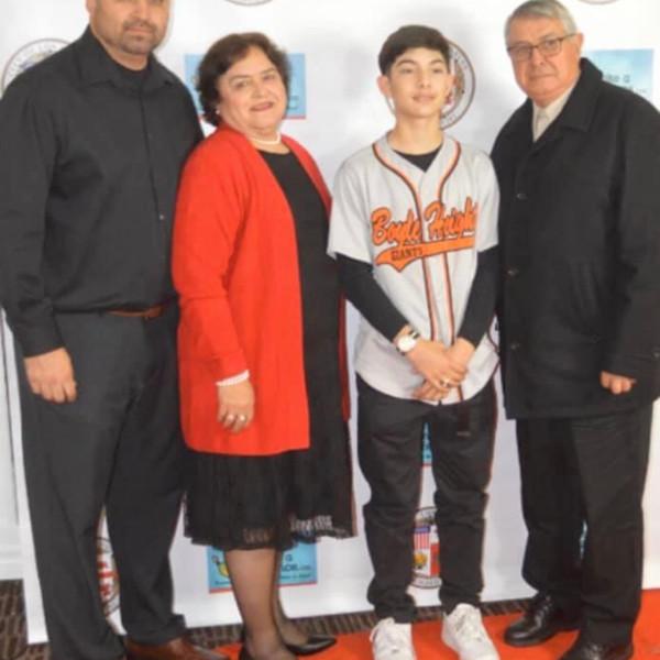 Coach Sal,award winner and Family