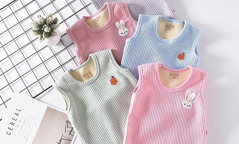Fleece Vest for Boy Girl Cloth Jacket Sleeveless Coat