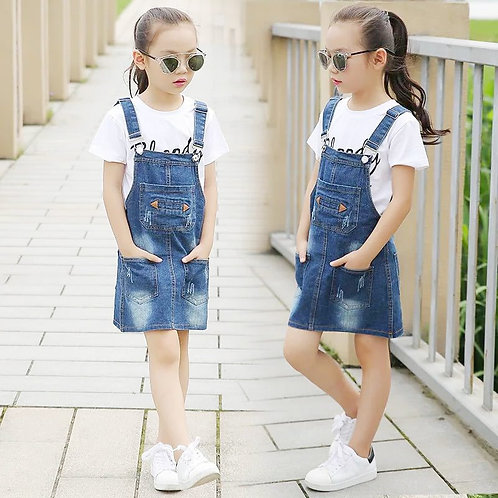Cowboy Breastplate Girls Dungarees Children Clothes 10 12 Years