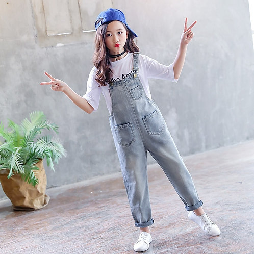 Playsuit for Girls School Jeans Jumpsuits Romper Clothes Outfits