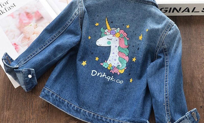 Cartoon Coat Embroidery Children Horse Printed Clothing Jacket