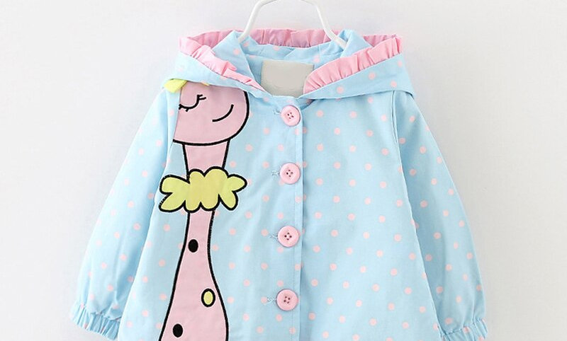 Cartoon Hooded Coats Cute Baby Jackets Kids Girls Clothes for Children