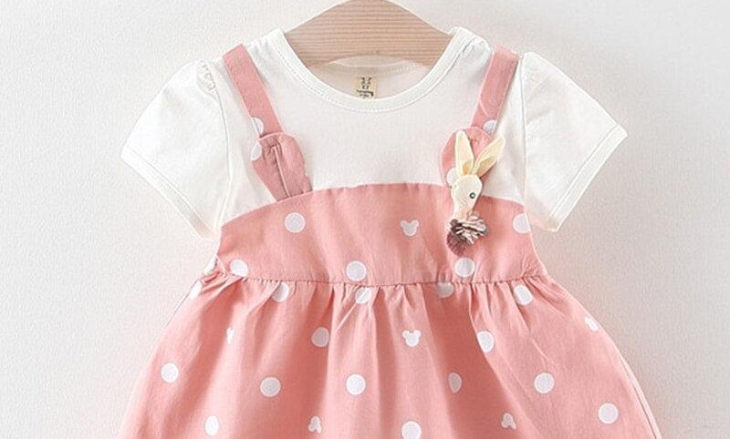 Polka Dot Princess Costume for Girls Fashion Baby Girls Clothes