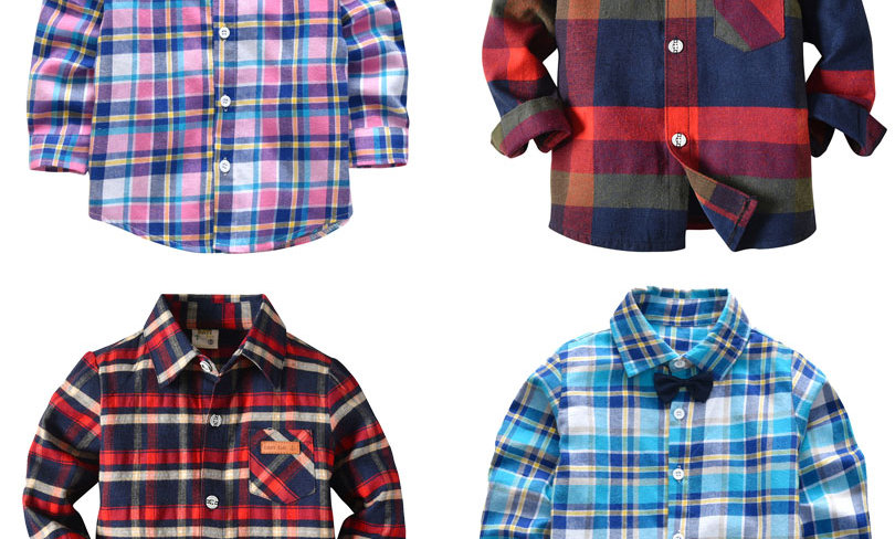 Masculina Blouses for Children Kids Clothes Baby Boy Plaid Shirt