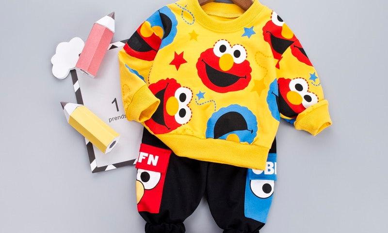 Kids Costume Boy Clothing Set T-Shit + Black Pants Children