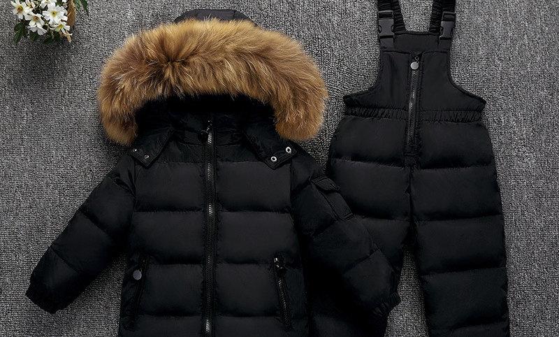 Overalls Kids Coat Snowsuit Snow Clothes Girls Clothing Set