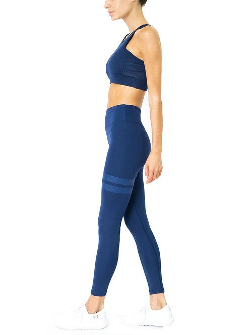 Ashton Set - Sports Bra & Leggings - Navy Blue