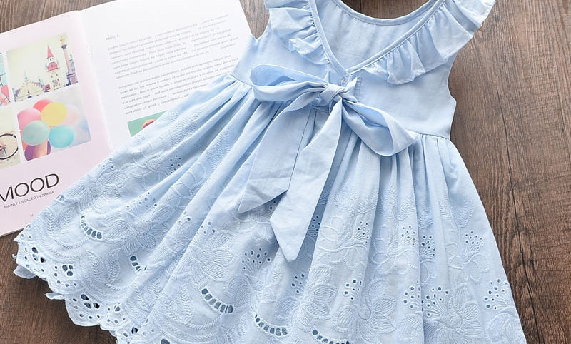 Princess Kids Dresses for Girls Clothes Embroidery Vestido