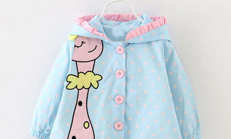 Hooded Coats Cute Baby Jackets Kids Girls Clothes for Children Clothing