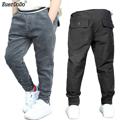 Warm School Pants for Boys Winter Clothing Teenagers Clothes