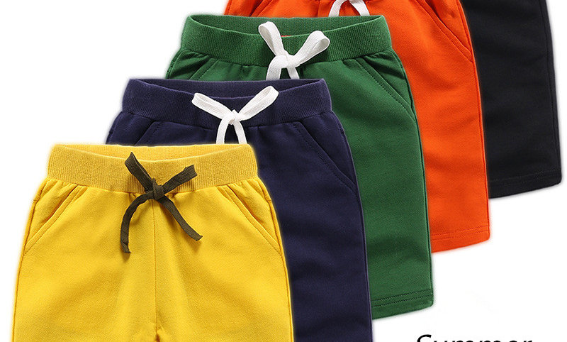 r Kids Boys Girls Solid Casual Shorts for 1-12Years Children Clothes
