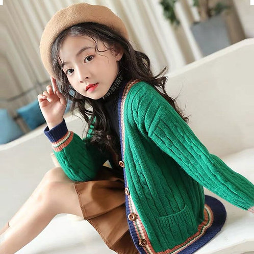 Pure Color Knit Clothes for Teen School Girls Children Clothing