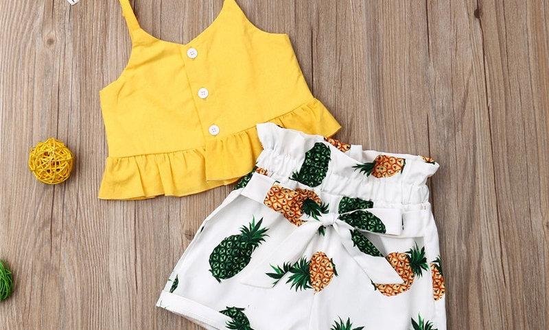 Pants 2pcs Outfit Clothes Children Summer Sets