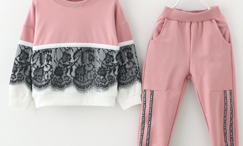 Clothing Cartoon Print Sweatshirts+Pants Suit 3-7y