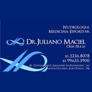 Juliano Maciel Pereira - NUTROLOGIA, MEDICINA DO ESPORTE, LONGEVIDADE SAÚDAVEL