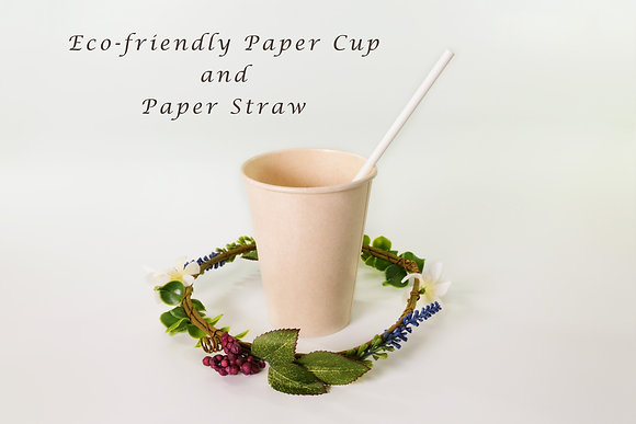 Eco-friendly Paper Cup and Straw