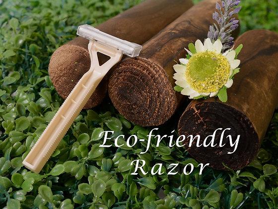 Razor (with biodegradable handle)