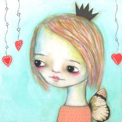 Dangly Hearts Girl