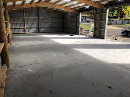 Big shed floor we completed, looking sharp