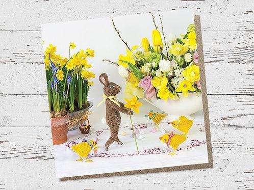 Easter bunny & chicks