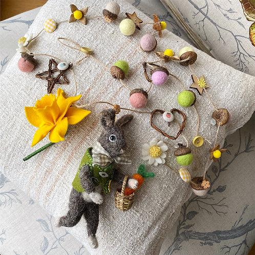 Easter bunny garland ... Alfie