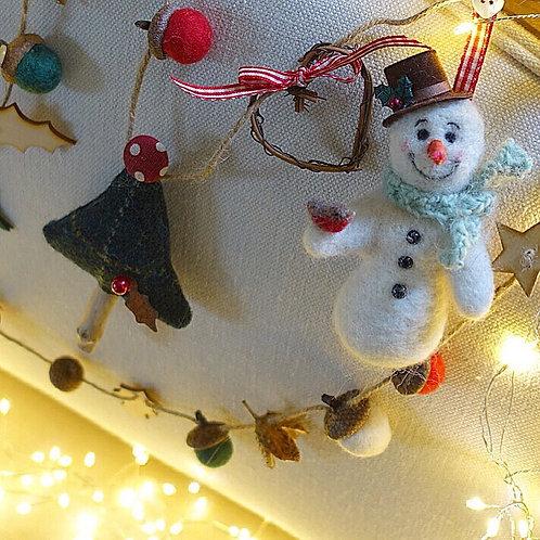 Stanley snowman garland
