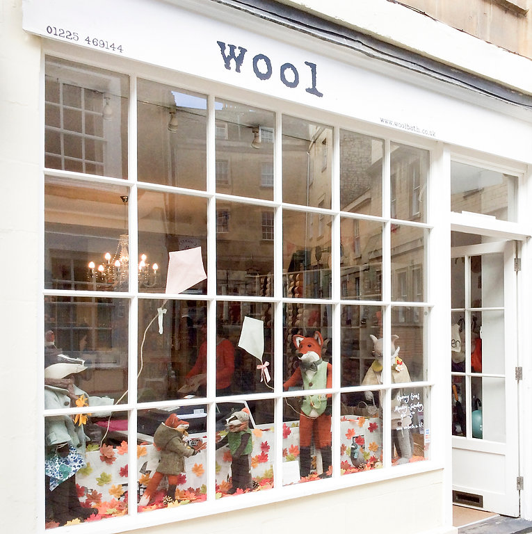 Wool Bath Window Display