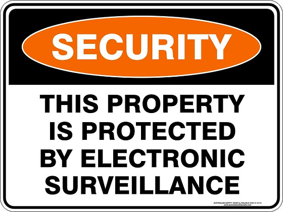 This Property Is Protected Sign