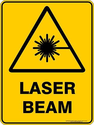 Laser Beam Hazard Warning Sign