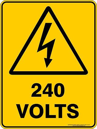 240 Volts Warning Sign