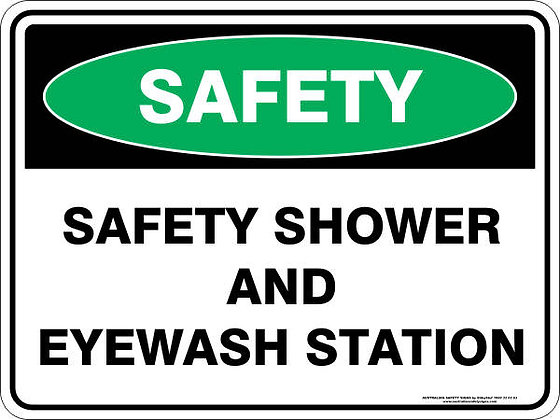 Safety Shower And Eyewash Station Sign