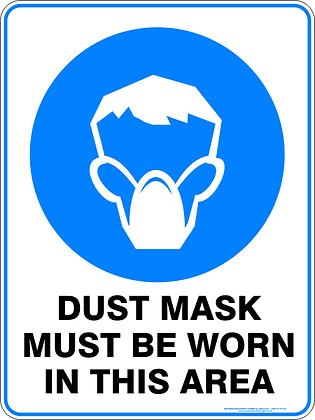Dust Mask Must Be Worn In This Area Sign